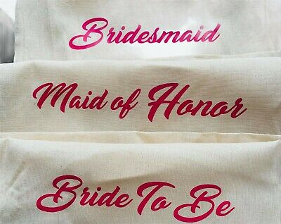 £2.99 • Buy Printed In Pink Wedding Party Bridal Tote Bags Bridesmaid Favour Hen Party Bag