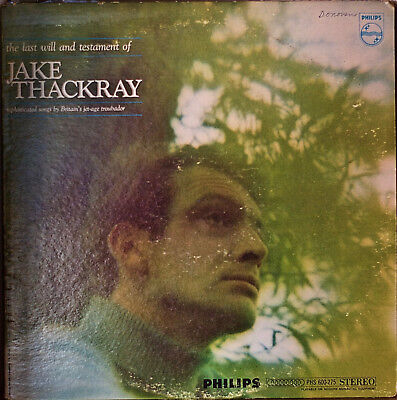 £13.42 • Buy JAKE THACKRAY: The Last Will And Testament Of-1967LP Singer/Songwriter PROMO