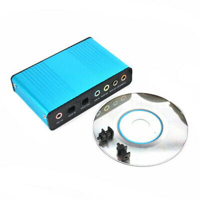 USB 6 Channel 5.1/7.1 Surround External Sound Card Audio Optical Adapter Card • 10.23£