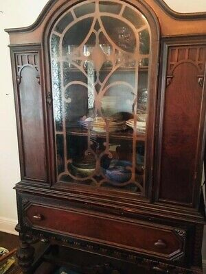 $3900 • Buy Jacobean Dining Room Set Furniture 1930 Jacobean Style Dining Room Set, Revival