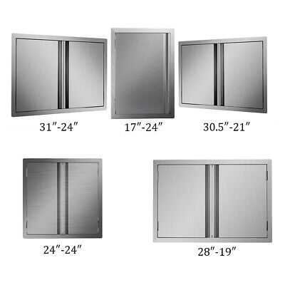 Outdoor Kitchen Bbq Island Stainless Steel Double Access Bbq Door Usa Made • 55.39$