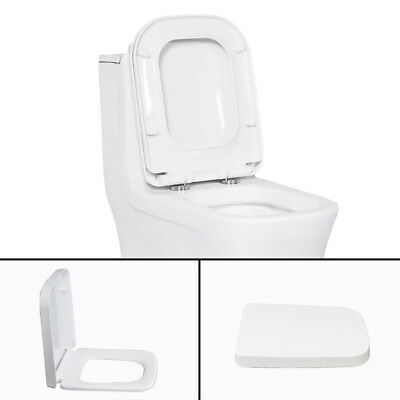 £10.99 • Buy Luxury Square Toilet Seat Heavy Duty White Soft Close Top Quick Release Hinges