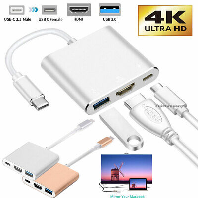 $11.99 • Buy Type C To HDMI HDTV AV TV Cable Adapter For Samsung S8 S9 S20 S21 Note10 MacBook