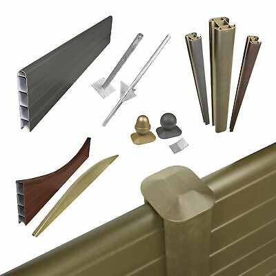 Plastic Composite Fence Boards Eco Fencing Replacement UPVC Garden Panels & Post • 23.17£