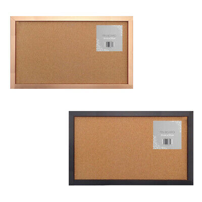 Frame Cork Notice Pin Board Postcards Notes Pictures Hanging Hooks Pins • 6.86£
