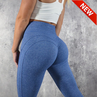 Leggings High Waist Push Up Elastic Fitness Women Pants Bodybuilding Clothing • 11.65£