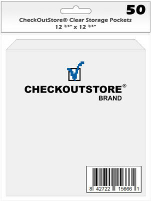 CheckOutStore Cardstock Clear Storage Pockets (12 3/4 X 12 3/4) • 15.17£