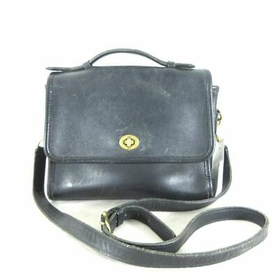 COACH Black Gold Hardware Turnlock 9870 Vintage COURT Crossbody Purse  0222AR • 65.00  486bf1f358bfc