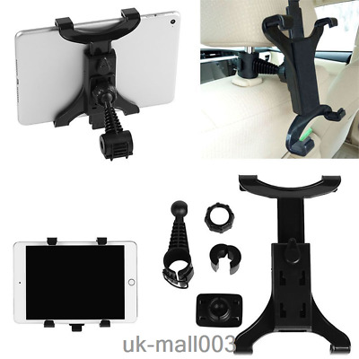 Mount Car Back Seat Holder Stand Headrest For 7-10 Inch Tablet/ Ipad/GPS UK • 5.69£