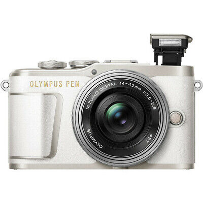 View Details Olympus PEN E-PL9 Mirrorless Digital Camera With 14-42mm Lens (White) • 329.90£