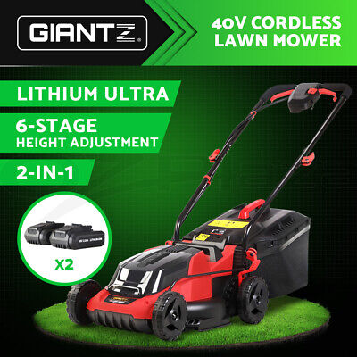 AU289.95 • Buy Giantz Lawn Mower Cordless Electric Lawnmower Lithium Battery Powered Catch