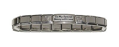 To My Special Nanny With Love With Hearts ... 9mm Italian Charm Bracelet  • 12.99£