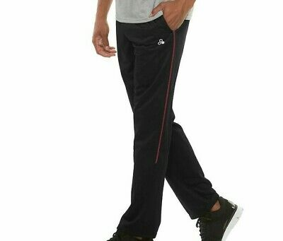 $20.97 • Buy NWT - TEK GEAR Men's PIPED TRICOT Black/Red TRAINING PANTS  -  L