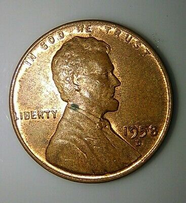 Error Coin 1958D Lincoln Wheat Cent Penny t