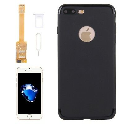 Kumishi For IPhone 7 Plus Dual SIM Card Adapter + TPU Back Case Cover With Pin • 18.99£