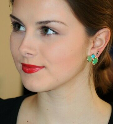 $ CDN73.73 • Buy Kate Spade Blue Green Turquoise Crystal Cluster Fiesta Crystal Earrings Stud