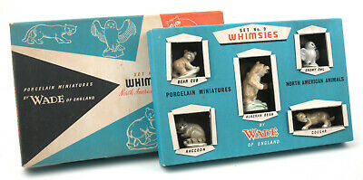 Wade Early First Whimsies Set No.9 North American Animals 1958-1961 *BOXED* • 49.99£