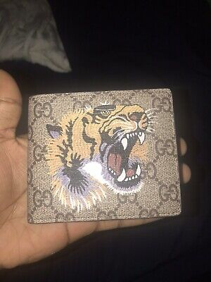 42710d3e8892 NWT!!! Mens Leather Gucci Tiger Wallet NEW IN BOX!!! •
