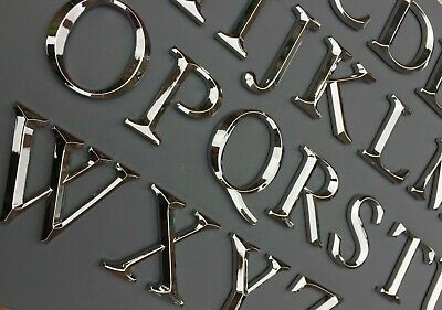 £1.89 • Buy Self Adhesive Letters A-Z & @ Art Door Walls Sign. H 5cm. Chrome. Ex Quality.