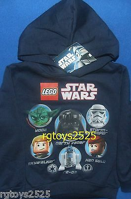 £17.69 • Buy Star Wars Lego Hoodie Pullover Size 4-5 XS New Childs Skywalker Yoda Vader R2-D2