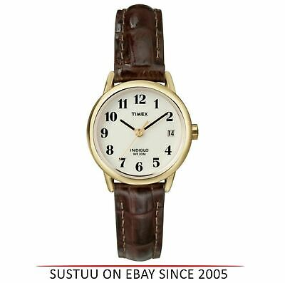 Timex T20071 Easy Reader Analouge Ladies Watch|Leather Strap|Night Light|Brown| • 37.98£
