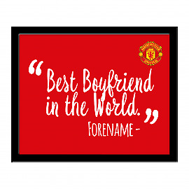 Manchester United F.C - Personalised Print (BEST ? IN THE WORLD) • 29.99£