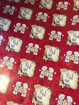 $6.20 • Buy 4m 8m 12m 16m ME TO YOU CHRISTMAS WRAPPING PAPER TATTY TEDDY NEW CARTE BLANCHE