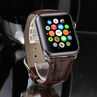$ CDN14.71 • Buy Genuine Leather Classic Replacement Straps Bands For Apple Watch Series 4 3 2 1