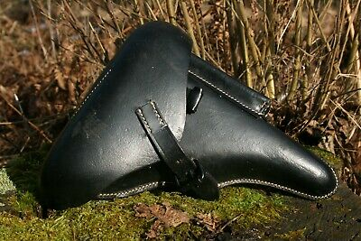 High Quality WW2 German Army Officer Hard Shell P-08 Holster - Leather - Repro • 36.41£