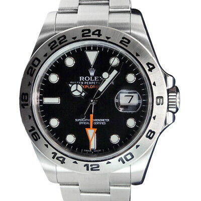 $ CDN11451.74 • Buy ROLEX - Mens 42mm Stainless Explorer II Black Index Dial - 216570 SANT BLANC