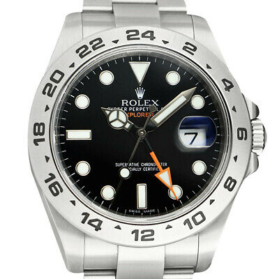 $ CDN11186.96 • Buy ROLEX - 42mm Stainless Explorer II Black Index CARD BOX 216570 - SANT BLANC