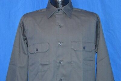 $ CDN54.68 • Buy Vintage 70s NEW SEARS PERMA-PREST KORATRON POLY COTTON GRAY WORK SHIRT 15 SMALL