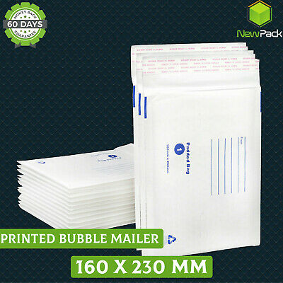 AU24.75 • Buy Bubble Mailer 160 X 230mm 01 Padded Envelope Cushioned Bag C5 A5 100 / 200 / 500