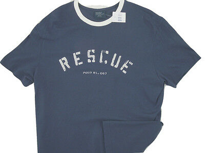 $ CDN54.12 • Buy NEW Vintage Polo Ralph Lauren T Shirt!  *Weathered Rescue Print*   USA FABRIC
