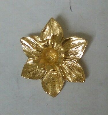£6.99 • Buy Great Wales Daffodil Gold Plated Lapel Pin Badge