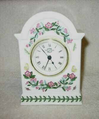 Portmeirion Botanic Garden - 6 1/4  High Mantle Desk Clock - Battery Operated • 19.30£