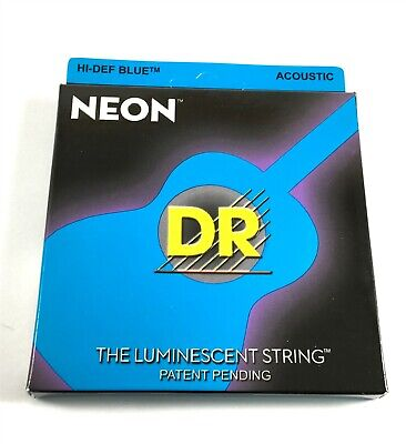 $ CDN17.19 • Buy DR Guitar Strings Acoustic Neon Blue Medium Lite 11-50 Luminescent