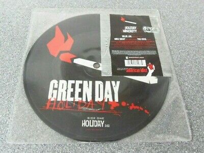 Green Day Holiday / Minority Limited Edition 7  Picture Disc MINT • 29.99£