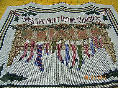 £6.87 • Buy ChristmasTapestry  Pillow Top Fabric Piece 14  X 18 T'was The Night Before Chris