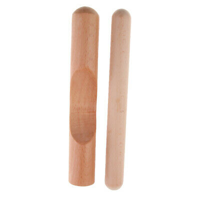 Traditional Wood Rhythm Sticks Claves Percussion Instrument For Beginners • 6.37£