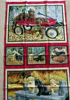 1 Darling  Labrador-able  Fabric Quilting/Wallhanger Panel • 11.65£