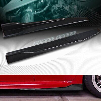 $32.95 • Buy 2pc Universal Carbon Look Side Skirt Rocker Splitters Winglet Diffuser 31  X 4