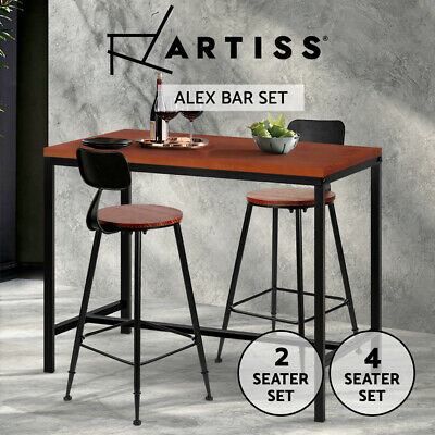 AU149 • Buy Artiss 2/4x Bar Table Stools Dining Set Vintage Barstools Kitchen Chairs Coffee