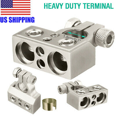 $8.89 • Buy Universal Dual 1/0 & 8 Gauge Positive Or Negative Battery Terminal Connector