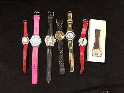 05fff660f9 Lot Vintage Novelty Watches Watch Snoopy Guess Football Advertising Parts  Repair • 17.85€