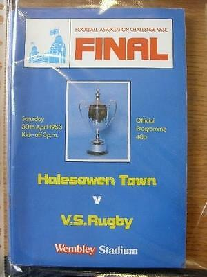30/04/1983 FA Vase Final: Halesowen Town V Valley Sports Rugby [At Wembley] (Ver • 2.99£
