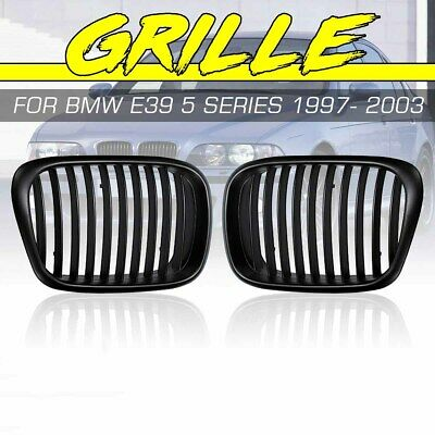 $18.71 • Buy Matte Black Front Hood Kidney Grill Grille For BMW 5 Series E39 540 M5