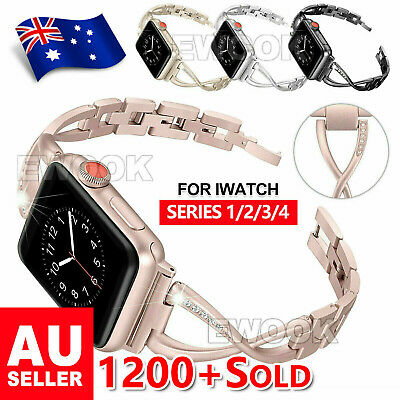 AU13.85 • Buy For Apple Watch Series 6 5 4 3 2 1 SE Stainless Steel Bracelet Strap Band 40 44