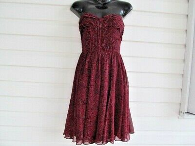 $19.99 • Buy MM COUTURE By MISS ME Black & Red  Strapless Dress Sz S NWT