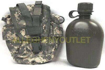 $ CDN22.47 • Buy US Military Molle ACU 1 QUART USED CANTEEN COVER W/ NEW  1 QT OD CANTEEN Pouch